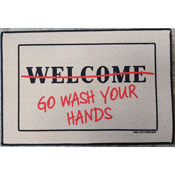 Go Wash Your Hands Welcome Mat