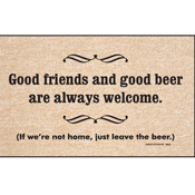 Good Friends And Good Beer Novelty Doormat