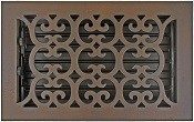 Hamilton Sinkler Bronze Patina Scroll Floor Register