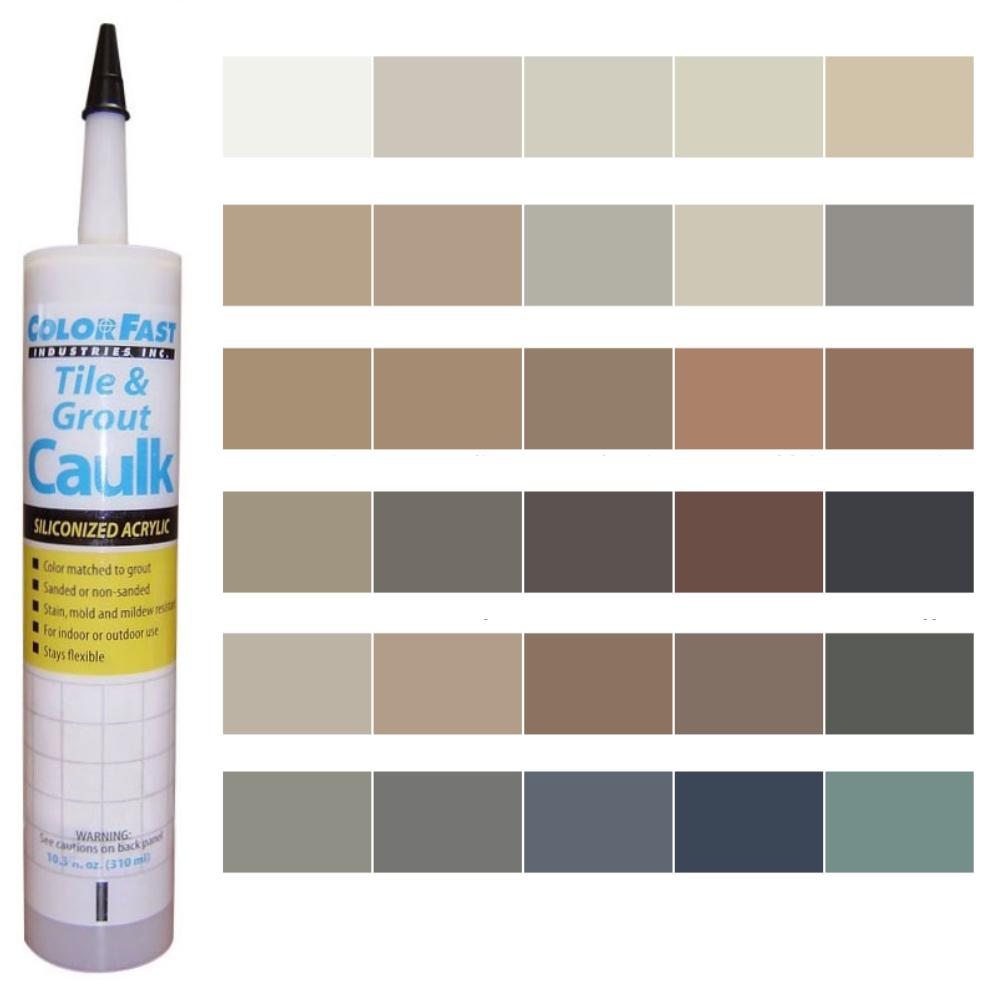 Latex Colored Caulk - Merkrete Caulk Color Line