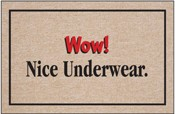 Humorous Welcome Mat - Wow! Nice Underwear