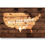 You Are Here Door Mat - Custom Mat