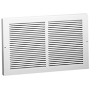 White Stamped Steel Baseboard Return Grille