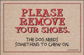 Humorous Welcome Mat - Please Remove Shoes