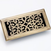 Zoroufy Scroll Antique Brass Floor Register