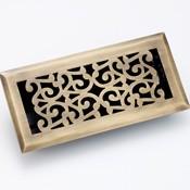 Zoroufy Scroll Antique Brass Floor Register