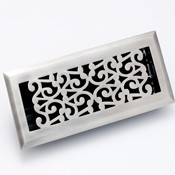 Zoroufy Scroll Antique Pewter Floor Register