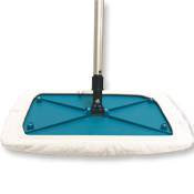 Sh Mop w/ Terry Cloth Cover - 8 x 15 and Telescopic Mop Handle
