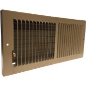 Driftwood Tan Steel Baseboard Register