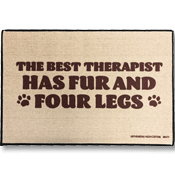 Funny Dog Welcome Mat - The Best Therapist