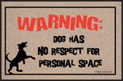 Dog Welcome Mat - No Respect