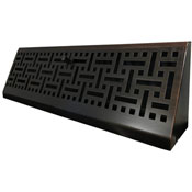 Oil Rubbed Bronze Wicker Baseboard Register
