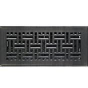 Oil Rubbed Bronze Wicker Style Floor Registers