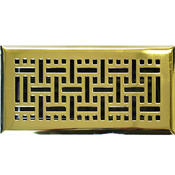 Polished Brass Wicker Style Floor Registers