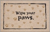 Humorous Welcome Mat - Wipe Your Paws