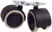 Feltac Casters with Plate Attachment for Hard Surfaces
