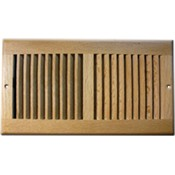 Light Oak Wood Wall Grilles