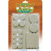 Slipstick Self Stick Felt Pads- 37 Piece Assortment Pack