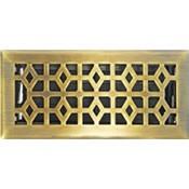 Decorative Register-Marquis Steel Antique Brass Finish