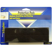 Brown Felt Protective Pads 1 Inch x 6 Inch