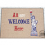 Funny Welcome Mat - We're So Excited To See You