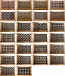 Pattern Cut Unfinished Wall Grills