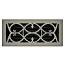 Brushed Nickel Floor Register Victorian Scroll Pattern