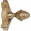 Zoroufy Grand Dynasty Collection Brushed Brass Fluted Tubular Rod w/ Grand Pineapple Finial