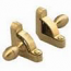 Zoroufy Heritage Collection Brushed Brass Smooth Solid Rod - Acorn Finials