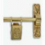 Thames Tapestry Wall Hanger Polished Brass Finish