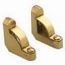 Zoroufy Heritage Collection Polished Brass Fluted Tubular Rod - No Finials