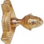 Zoroufy Grand Dynasty Collection Polished Brass Fluted Tubular Rod w/ Grand Pineapple Finial