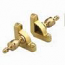 Zoroufy Heritage Collection Polished Brass Roped Tubular Rod - Crown Finials