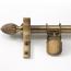 Zoroufy Classic Wall Hanger Antique Brass - Pineapple Finials