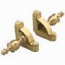 Zoroufy Heritage Collection Brushed Brass Fluted Tubular Rod - Crown Finials