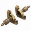 Zoroufy Heritage Collection Antique Brass Fluted Tubular Rod - Crown Finials