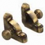 Zoroufy Heritage Collection Antique Brass Fluted Tubular Rod - Round Finials