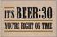 Humorous Welcome Mat - It's Beer :30