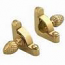 Zoroufy Heritage Collection Polished Brass Fluted Tubular Rod - Pineapple Finials