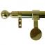 Zoroufy Grand Regency Wall Hanger Polished Brass - Ball Finial