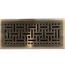 Antique Brass Wicker Style Floor Registers
