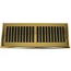 Polished Brass Contemporary Plastic Floor Register