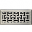 Satin Nickel Wicker Style Floor Registers