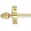 I.S. Plated Polished Brass Stair Rods - Pineapple Finials