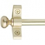 I.S. Plated Brushed Brass Stair Rods - Round Finials