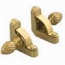 Zoroufy Heritage Collection Brushed Brass 1/2 inch Smooth Tubular Rod - Pineapple Finials