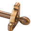 Zoroufy Heritage Collection Antique Brass 1/2 inch Smooth Tubular Rod - Acorn Finials