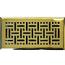 Polished Brass Wicker Style Floor Registers