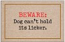Funny Welcome Mat - Dog Can't Hold its Licker