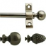 I.S. Plated Ant. Pewter Stair Rods - Pine./Ball